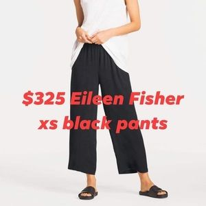 Eileen Fisher xs black pull on light weight pants